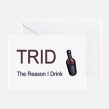 TRID Bottle Greeting Card