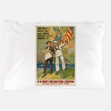 US Navy USN Make American History WWI Pillow Case