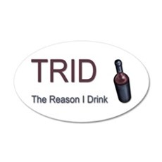 TRID Bottle 20x12 Oval Wall Decal
