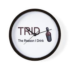 TRID Bottle Wall Clock
