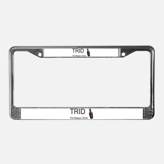 TRID Bottle License Plate Frame