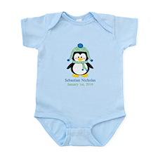 Blue Plaid Penguin Body Suit