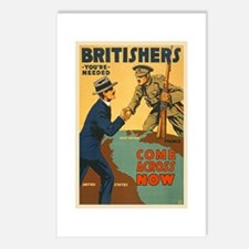 Britishers Come Across No Postcards (Package of 8)