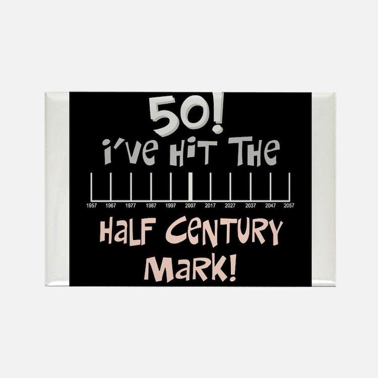 Cute Half century Rectangle Magnet