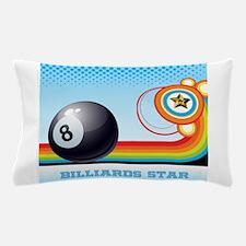 Billiard Ball and Rainbow Stripe Pool Pillow Case