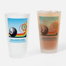 Billiard Ball and Rainbow Stripe Po Drinking Glass