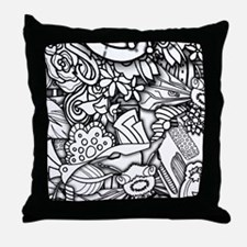 Funny Color your own Throw Pillow