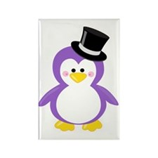 Unique Purple penguin Rectangle Magnet