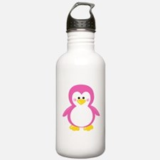 Pink Penguin Water Bottle
