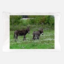Two Miniature Donkeys Pillow Case