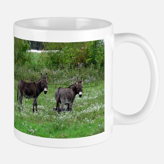 Two Miniature Donkeys Mugs