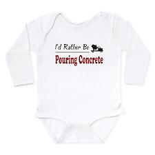 Unique Cement truck Long Sleeve Infant Bodysuit