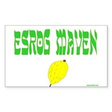 Succos Esrog Maven Rectangle Decal
