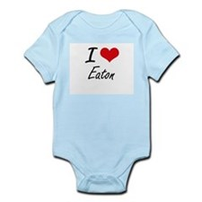 I Love Eaton artistic design Body Suit