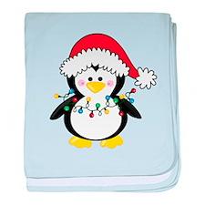 Santa Penguin baby blanket