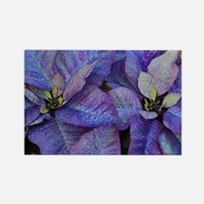 Cute Purple flower Rectangle Magnet