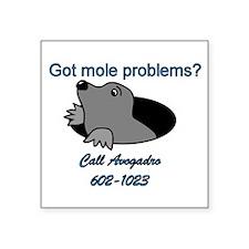 """Cute Chemistry mole Square Sticker 3"""" x 3"""""""