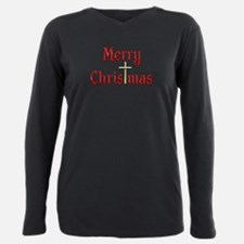 Cute Merry christmas Plus Size Long Sleeve Tee
