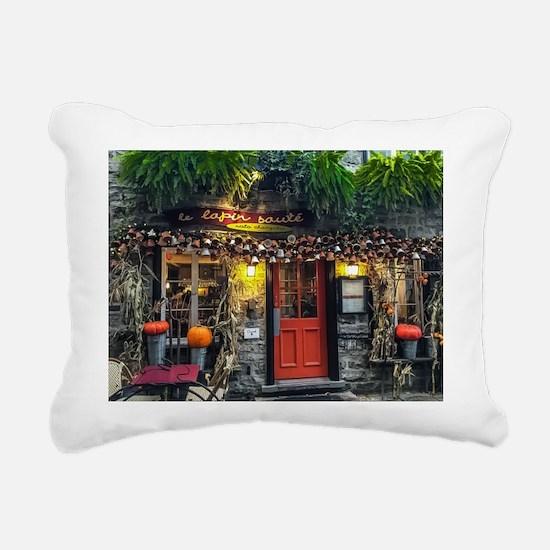 Le Lapin Saute Rectangular Canvas Pillow