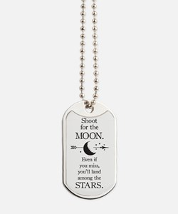 Cute Moon and stars Dog Tags