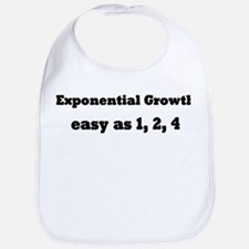 Exponential Growth 1, 2, 4 Bib