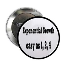 "Exponential Growth 1, 2, 4 2.25"" Button (100 pack)"