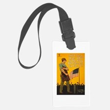 American Flag Sleeves Up WWI Pro Luggage Tag