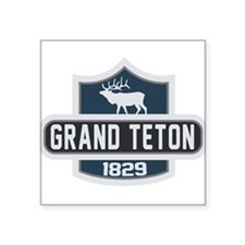 "Cute Tetons Square Sticker 3"" x 3"""