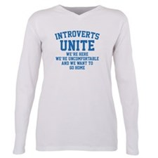 Cute Introvert Plus Size Long Sleeve Tee
