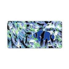 Blue Clownfish Aluminum License Plate