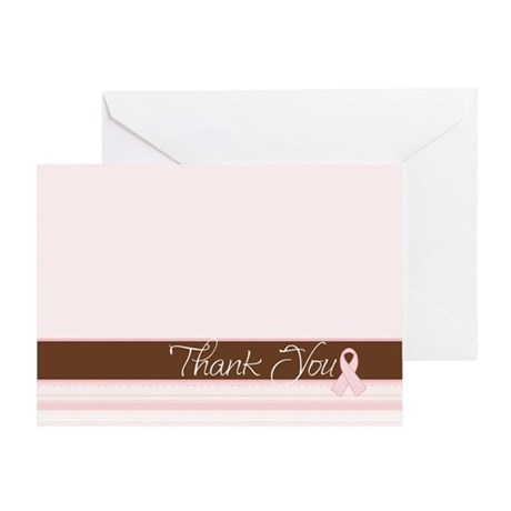 Chic Pink Ribbon Thank You Card