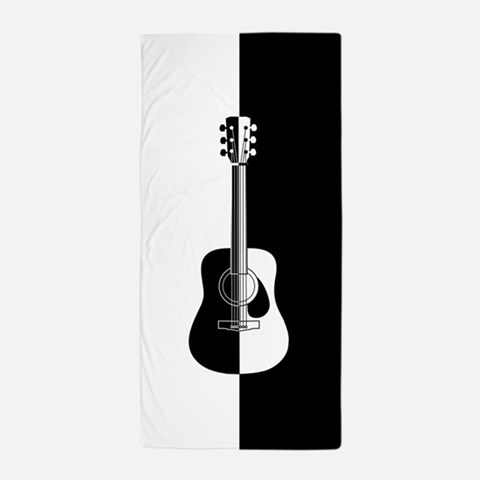 Cool Contemporary Guitar art Beach Towel