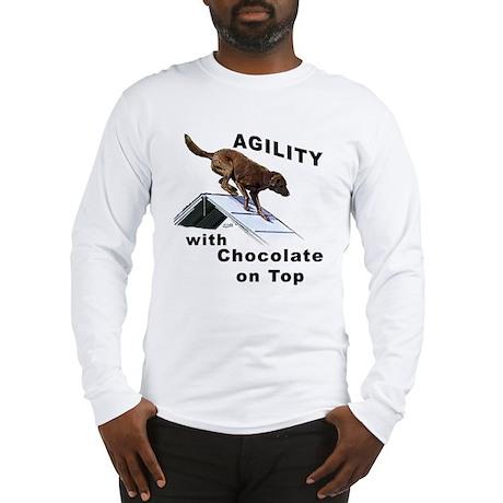 Chocolate Lab Agility Long Sleeve T-Shirt