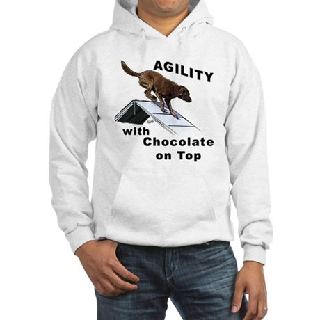 Chocolate Lab Agility Hooded Sweatshirt