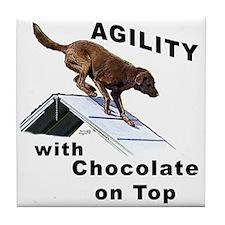 Chocolate Lab Agility Tile Coaster
