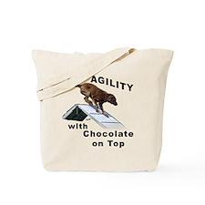 Chocolate Lab Agility Tote Bag