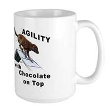 Chocolate Lab Agility Mug