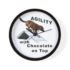 Chocolate Lab Agility Wall Clock