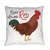 Rhode island red everyday Woven Pillows
