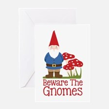 Beware the Gnome Greeting Cards
