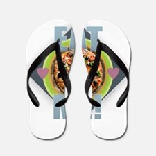 Pizza - Eat Me Flip Flops