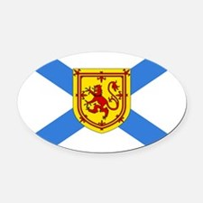 Nova Scotia Oval Car Magnet