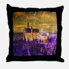 Cute Neuschwanstein Throw Pillow