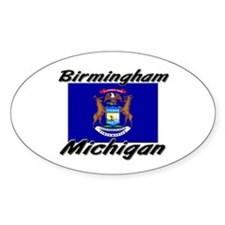 Birmingham Michigan Oval Decal