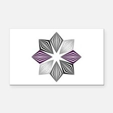 Asexual Pride Starburst Rectangle Car Magnet