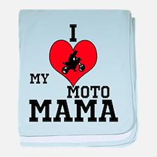 Cute Motocross baby baby blanket