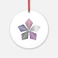 Gender Fluid Pride Starburst Round Ornament