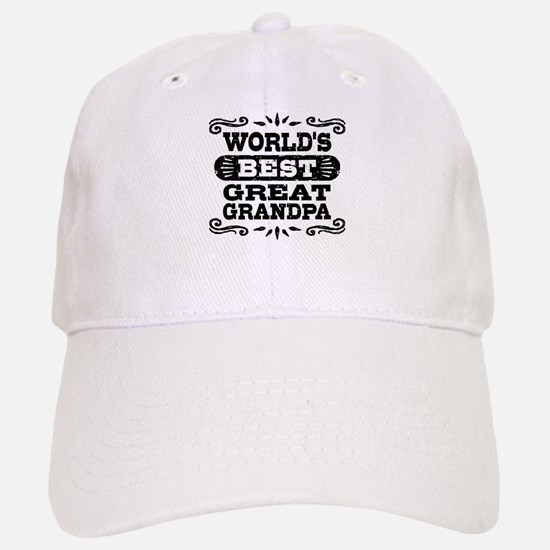 World's Best Great Grandpa Baseball Baseball Cap