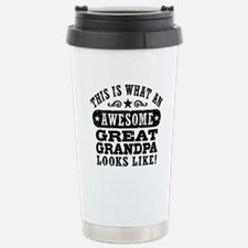 Awesome Great Grandpa Stainless Steel Travel Mug