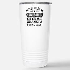 Awesome Great Grandpa Travel Mug